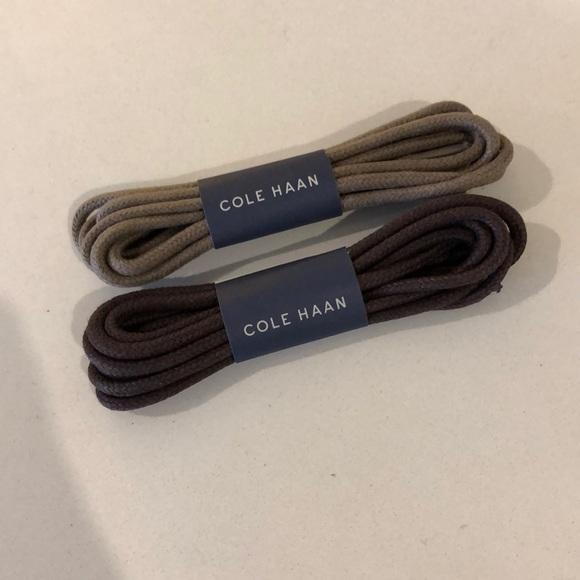Cole Haan Mens Shoelaces 2 Pair